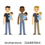 Cute Cartoon Young Fathers...