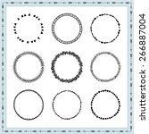 set of hand drawn decorative... | Shutterstock .eps vector #266887004
