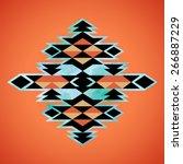 navajo aztec textile... | Shutterstock .eps vector #266887229
