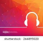 abstract creative concept... | Shutterstock .eps vector #266895020