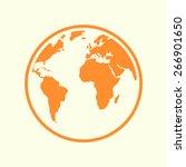 globe icon. | Shutterstock .eps vector #266901650