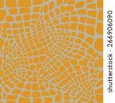 reptile skin seamless pattern | Shutterstock .eps vector #266906090