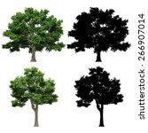 3d tree render on white... | Shutterstock . vector #266907014