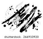 abstract ink grunge texture... | Shutterstock .eps vector #266910920