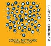 social network | Shutterstock .eps vector #266915444