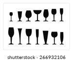 silhouettes glasses | Shutterstock .eps vector #266932106