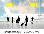 international airport terminal... | Shutterstock . vector #266939798