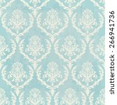 Blue Vintage Wallpaper With...