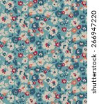 trendy seamless floral pattern... | Shutterstock .eps vector #266947220