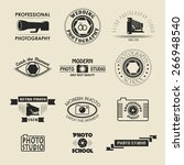 vector set of style photography ... | Shutterstock .eps vector #266948540