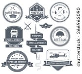 military army set label... | Shutterstock .eps vector #266963090