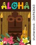 aloha party | Shutterstock .eps vector #266963663