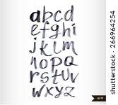 handwritten calligraphic black... | Shutterstock .eps vector #266964254