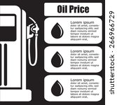 oil station price display.... | Shutterstock .eps vector #266966729