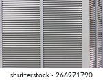 corrugated industrial facade... | Shutterstock . vector #266971790