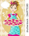sweets heart shaped | Shutterstock .eps vector #266975180