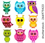 vector collection of different... | Shutterstock .eps vector #266975423