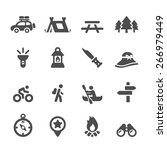 camping icon set  vector eps10. | Shutterstock .eps vector #266979449