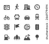 map location icon set 2  vector ... | Shutterstock .eps vector #266979494