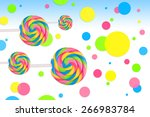fantasy sweet candy land with... | Shutterstock . vector #266983784
