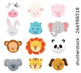 animal faces | Shutterstock .eps vector #266988518