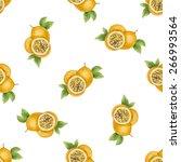 watercolor pattern of fruit...   Shutterstock .eps vector #266993564