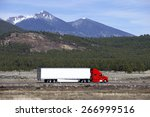 semi truck going fast on... | Shutterstock . vector #266999516