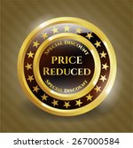 price reduced gold badge | Shutterstock .eps vector #267000584