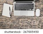 planners  modern  desk. | Shutterstock . vector #267005450