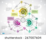 timeline infographics. vector... | Shutterstock .eps vector #267007604