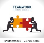 teamwork design over white... | Shutterstock .eps vector #267014288