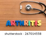 arthritis colorful word on the... | Shutterstock . vector #267014558