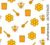 seamless hand drawn background... | Shutterstock .eps vector #267015620