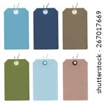 set of different colors blank... | Shutterstock . vector #267017669