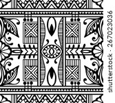 black and white graphic... | Shutterstock .eps vector #267023036