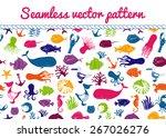 blue seamless sea vector...   Shutterstock .eps vector #267026276