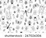 seamless vector pattern.... | Shutterstock .eps vector #267026306