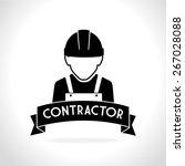 construction design over white... | Shutterstock .eps vector #267028088