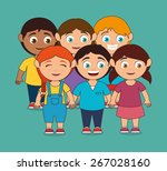 kids design over blue... | Shutterstock .eps vector #267028160