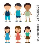 kids design over white... | Shutterstock .eps vector #267030329