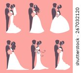 illustration of six wedding... | Shutterstock .eps vector #267032120