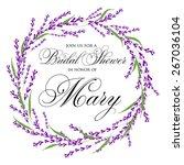 bridal shower invitation card...   Shutterstock .eps vector #267036104