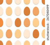 pattern of the organic eggs on... | Shutterstock .eps vector #267040499