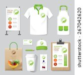 vector health  beauty shop set... | Shutterstock .eps vector #267042620