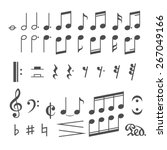 Music Notes And Icons Set....