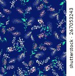 vector seamless flower pattern...   Shutterstock .eps vector #267053243