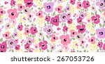 Stock vector vector seamless flower pattern background 267053726