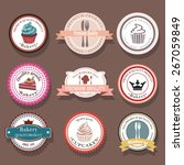 set of bakery vector logo... | Shutterstock .eps vector #267059849