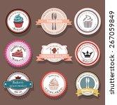 set of bakery vector logo... | Shutterstock .eps vector #267059849