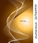 abstract orange wavy background. | Shutterstock .eps vector #267069959
